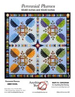 Perennial Plumes Applique' pattern, anythingbutboring.com