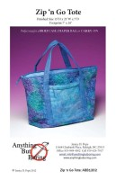 Zip 'n Go Tote Pattern, www.anythingbutboring.com