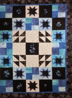 Embroidered Honeybell Star Quilt